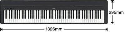 Yamaha P-45 Size